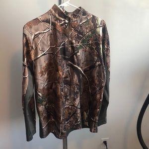 Men's camo quarter zip pullover
